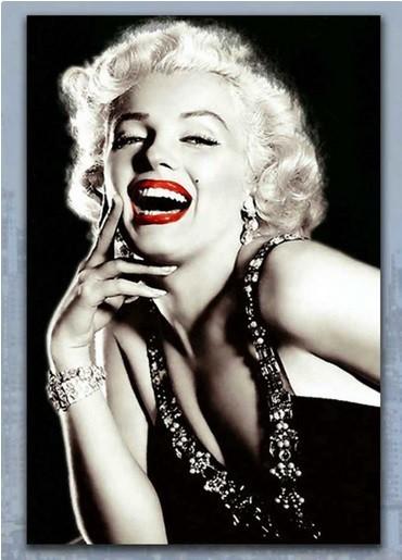 Obraz skleněný, 40x60 cm (černo-bílá Marilyn Monroe)