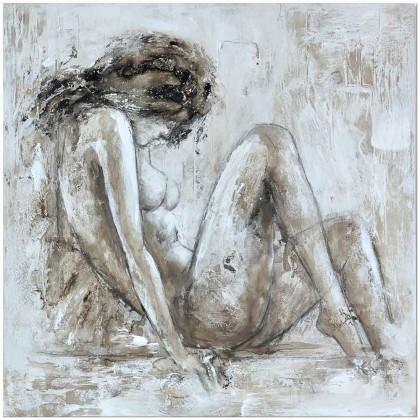 Obrazy Ručně malovaný obraz Beauty (100x100 cm)