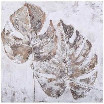 Obrazy Ručně malovaný obraz Leaves (60x60 cm)