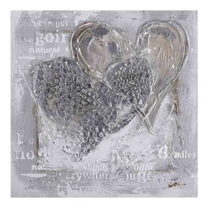 Obrazy Ručně malovaný obraz Love (100x100 cm)