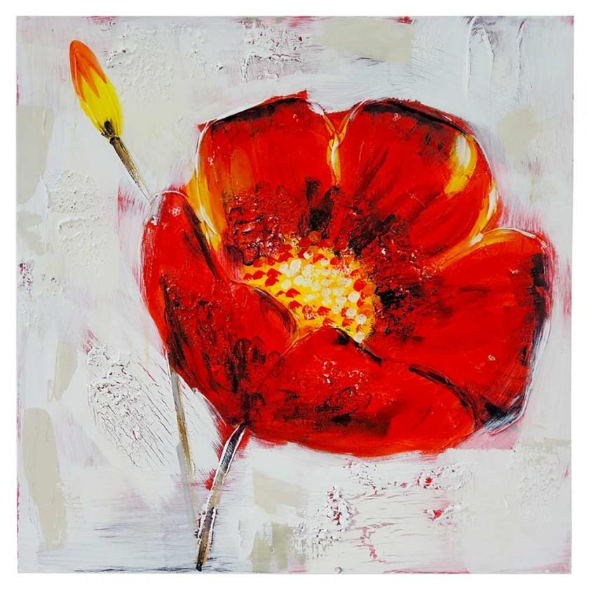 Obrazy Ručně malovaný obraz Poppy (60x60 cm)
