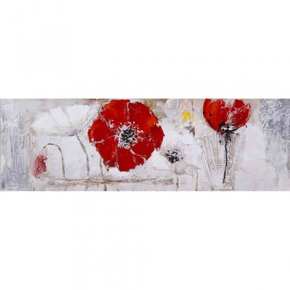 Obrazy Ručně malovaný obraz Redland (50x150 cm)