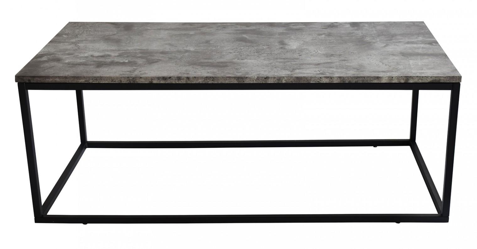 Obývací pokoje ZLEVNĚNO Beside - Konferenční stolek, černé nohy (kov, lamino)