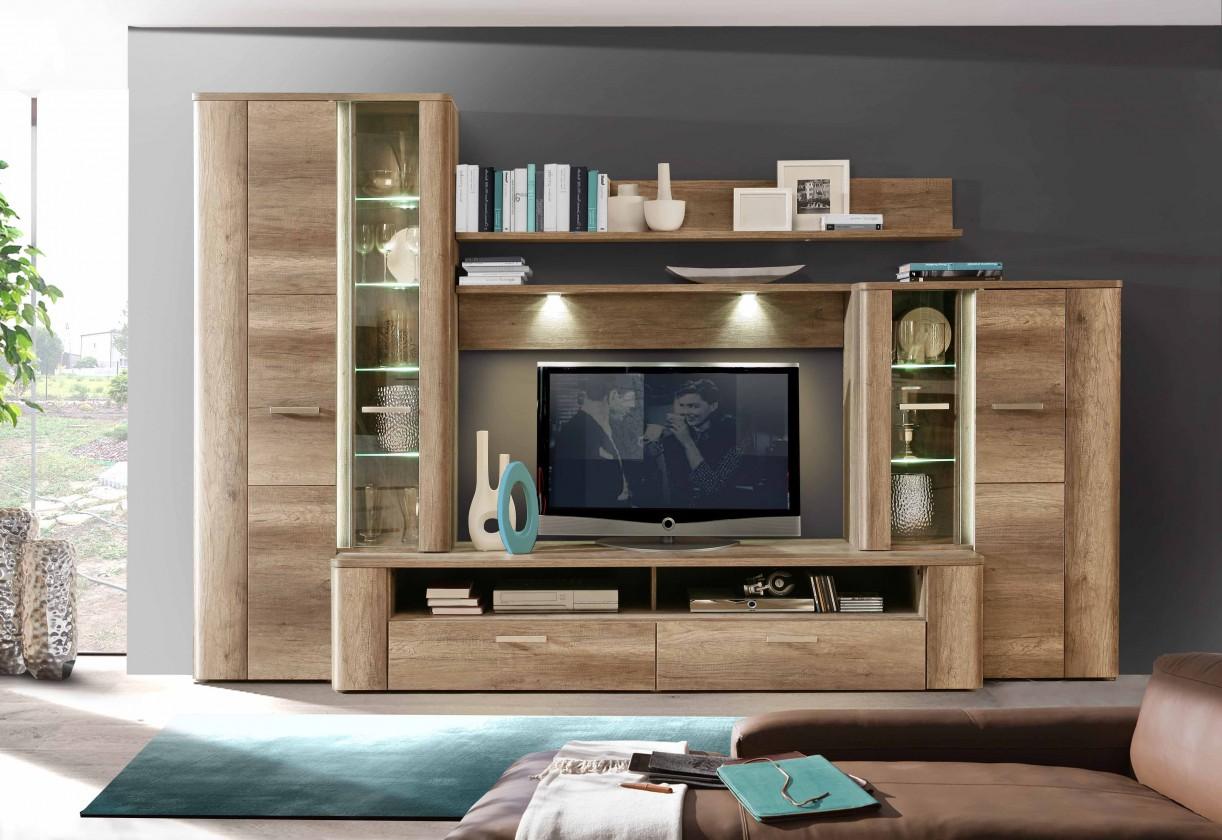Obývací pokoje ZLEVNĚNO Canberra CBRM01LB (Dub antický)