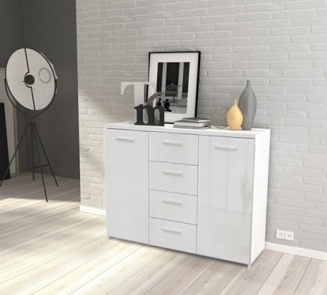 Obývací pokoje ZLEVNĚNO Crown-CRWK26(bílá matná / bílá lesklá)