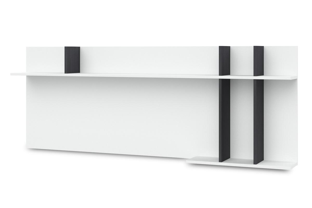 Obývací pokoje ZLEVNĚNO Denver - Typ 43 (bílá arctic LDTD / černá strukturovaná)