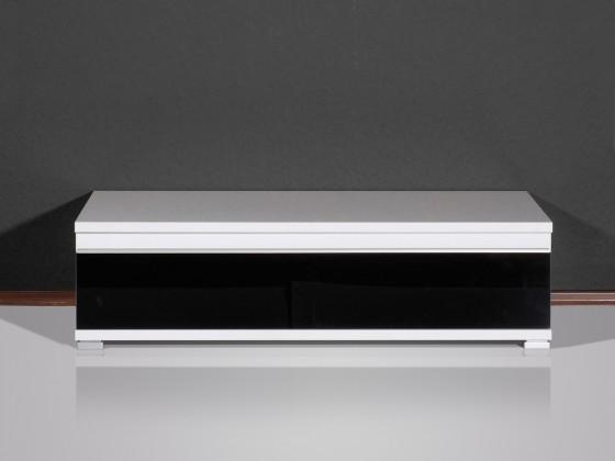 Obývací pokoje ZLEVNĚNO Freestyle - TV stolek, 1503-73 (bílá/černá vysoký lesk)