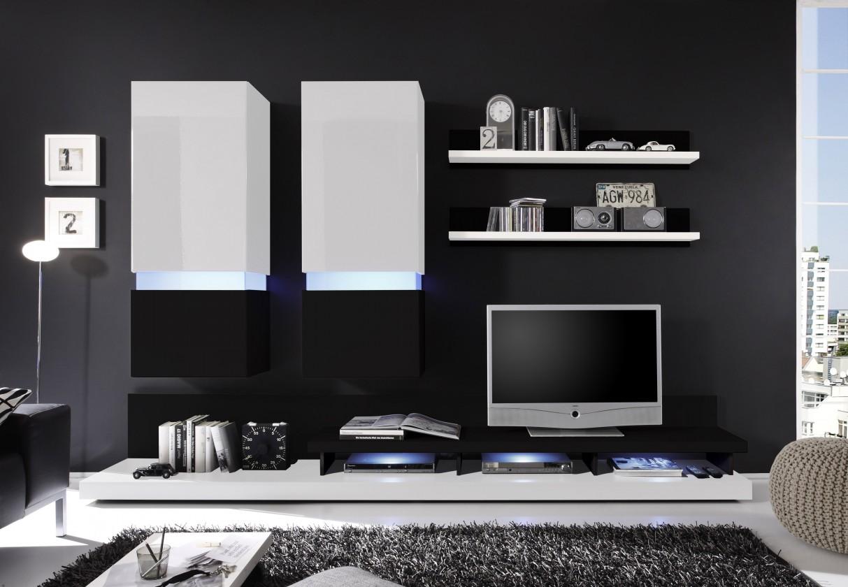 Obývací pokoje ZLEVNĚNO Frisco (Bílá/černá VL)