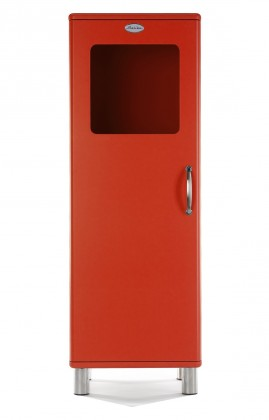 Obývací pokoje ZLEVNĚNO Malibu - Vitrína (červená)