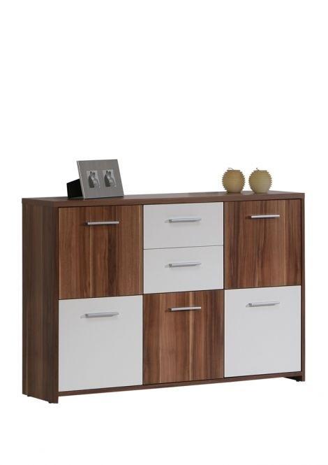 Obývací pokoje ZLEVNĚNO Quadro QDRK17 (Bílá/Ořech šedý)