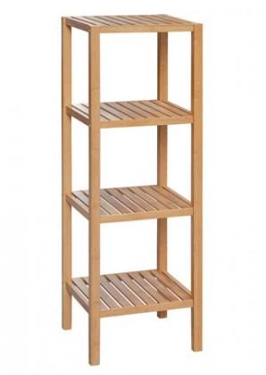 Obývací pokoje ZLEVNĚNO Regál DR-011-4 (bambus lakovaný)