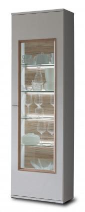 Obývací pokoje ZLEVNĚNO Veto - Typ 02 (bílá arctic/bílá vysoký lesk/dub san remo sand)