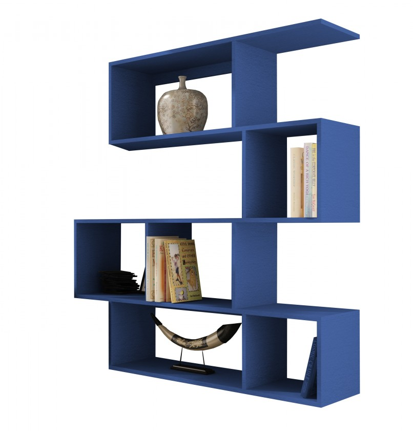 Obývací pokoje ZLEVNĚNO Vigo - Regál zavěsný (modrá)