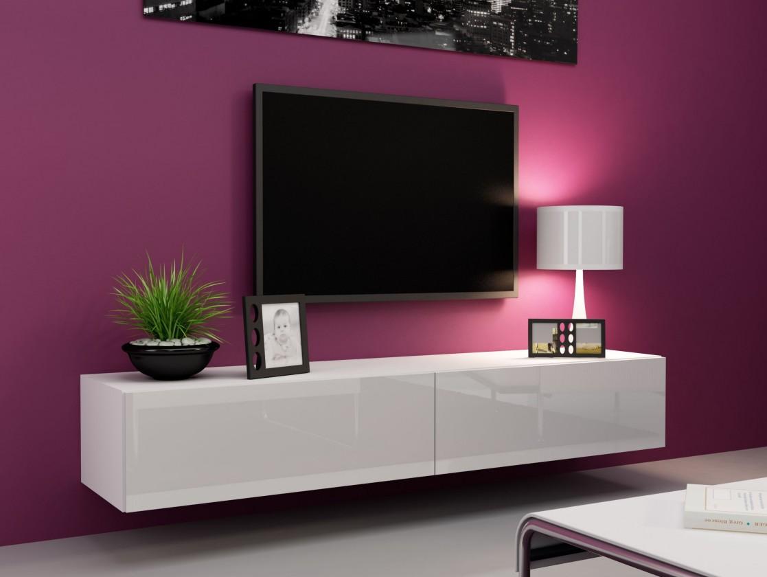 Obývací pokoje ZLEVNĚNO Vigo - TV komoda 180 (bílá mat/bílá VL)