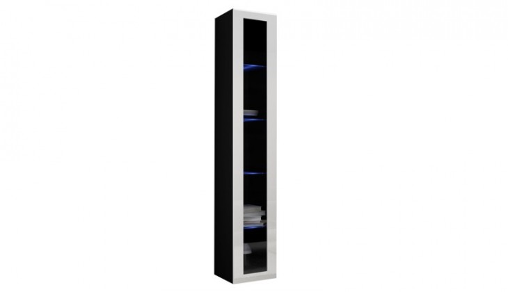 Obývací pokoje ZLEVNĚNO Vigo - Vitrína závěsná, 1x dveře sklo