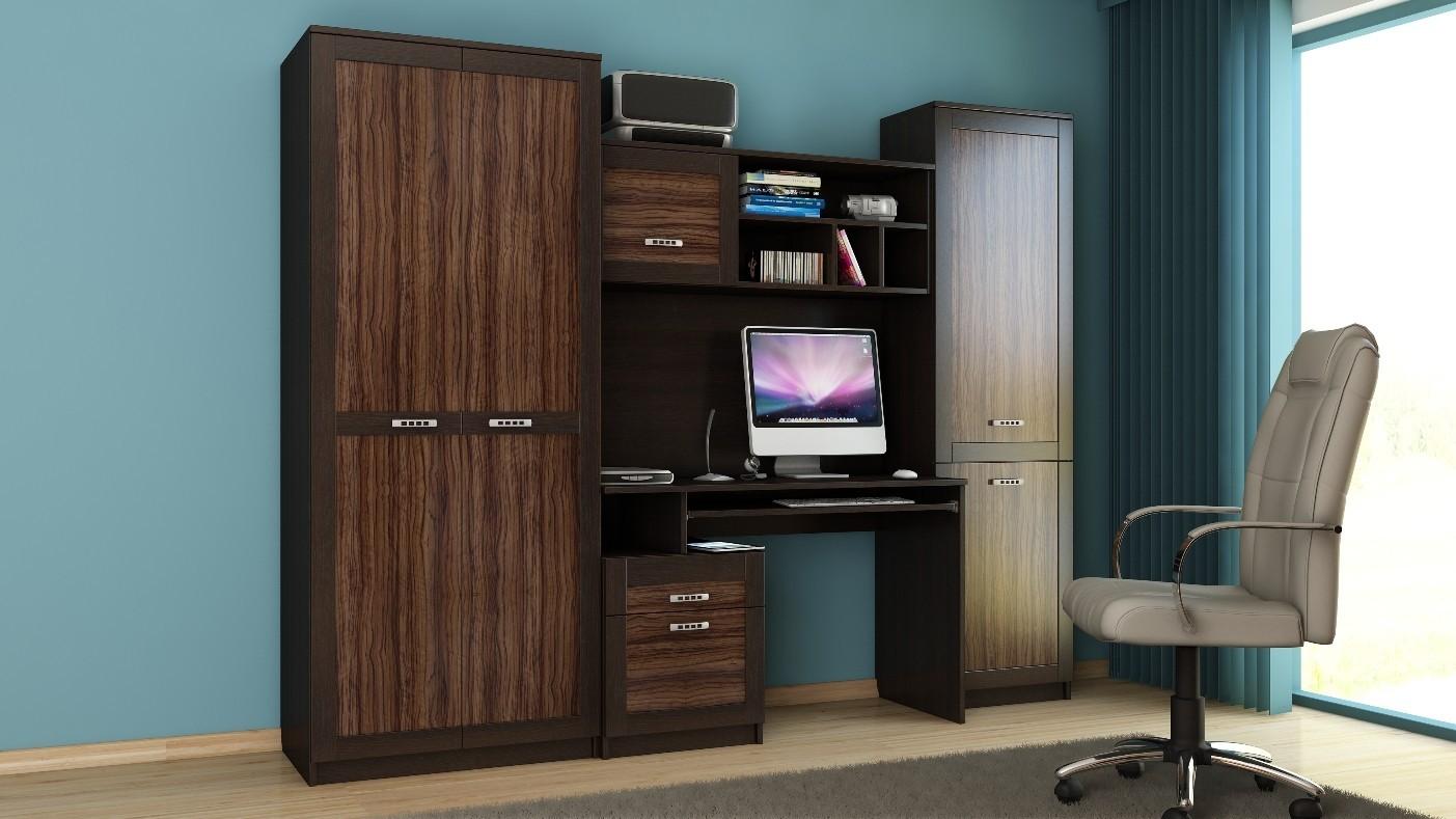 Obývací stěna Boss - Kancelářská sestava 3 (olivka/dub maggia)