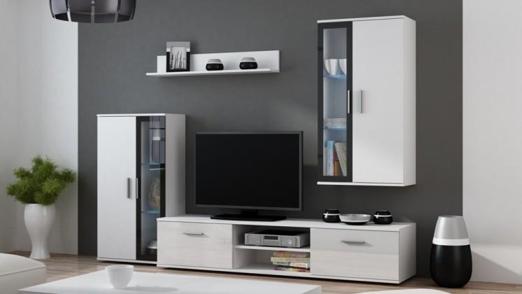 Obývací stěna Dora - Obývací stěna (bílá)