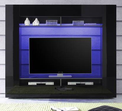 Obývací stěna Evito X3 (Antracit/černá)