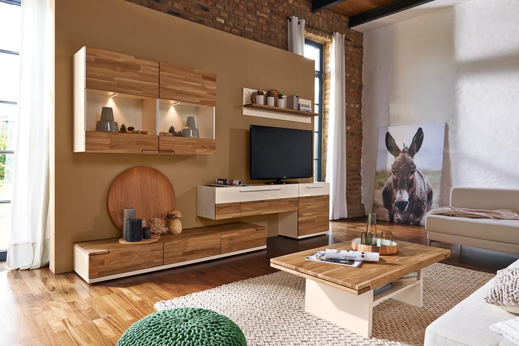 Obývací stěna Feel - Obývací stěna 4075003 (bílá/dub/bílá)