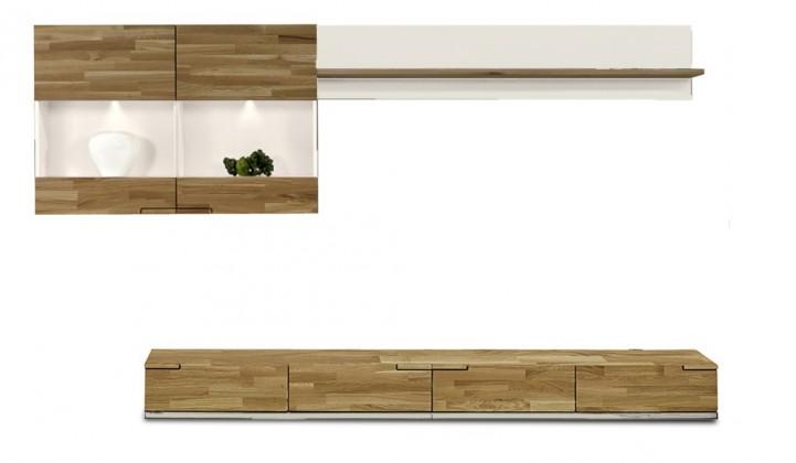 Obývací stěna Feel - Obývací stěna 4075203 (bílá/dub/bílá)