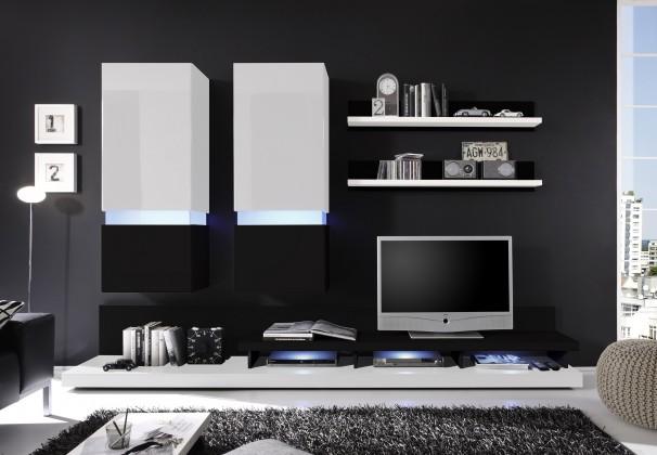 Obývací stěna Frisco (Bílá/černá VL)