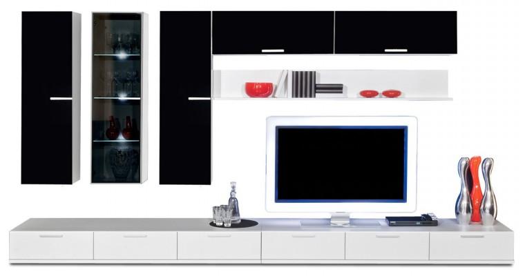 Obývací stěna Game - obývací stěna 347205 (bílá/černá)
