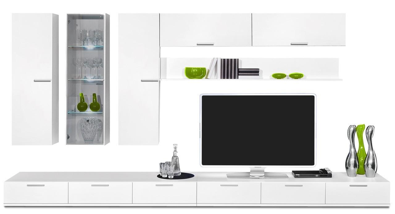 Obývací stěna Game - obývací stěna 347206 (bílá/bílá)