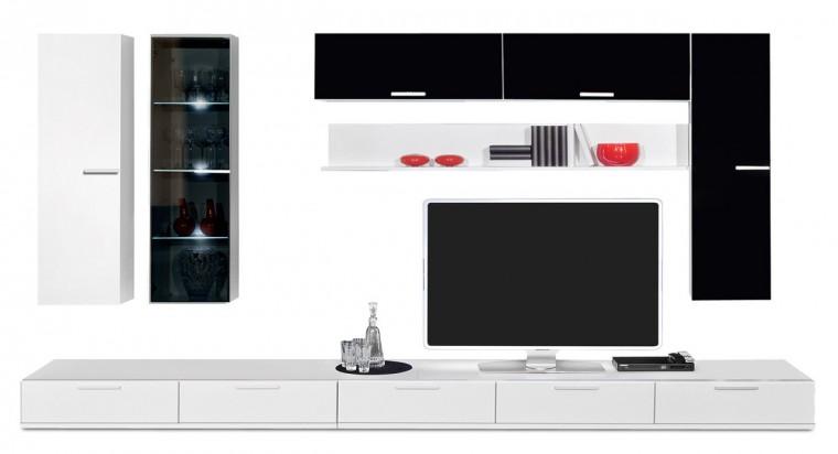 Obývací stěna Game - obývací stěna 347215 (bílá/černá)
