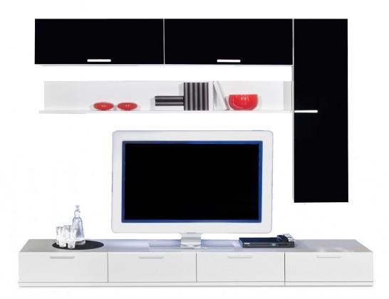 Obývací stěna Game - obývací stěna 347275 (bílá/černá)