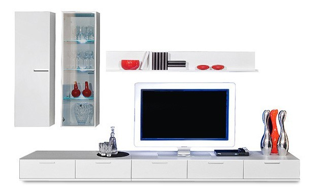 Obývací stěna Game - obývací stěna 347280 (bílá/bílá)