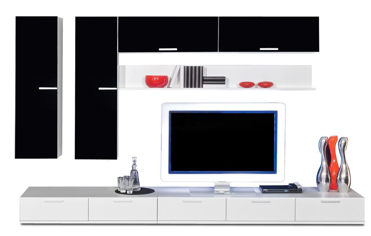Obývací stěna Game - obývací stěna 347316 (bílá/černá)