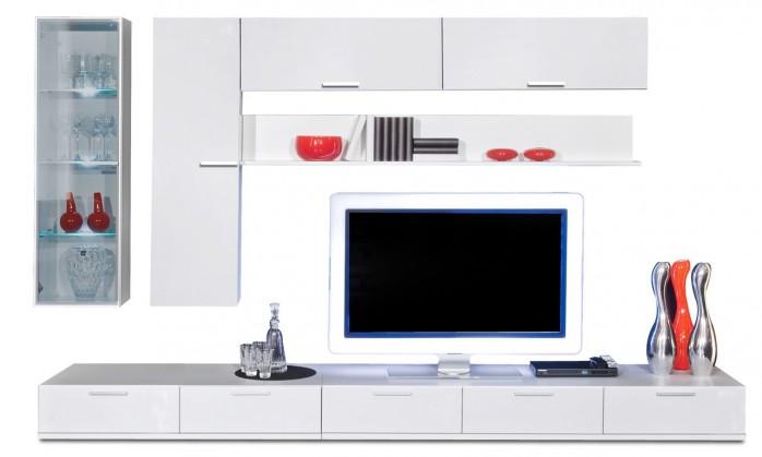Obývací stěna Game - obývací stěna 347325 (bílá/bílá)
