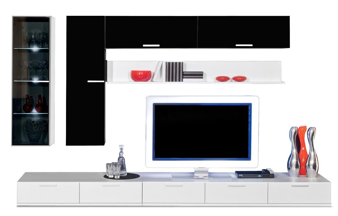 Obývací stěna Game - obývací stěna 347326 (bílá/černá)