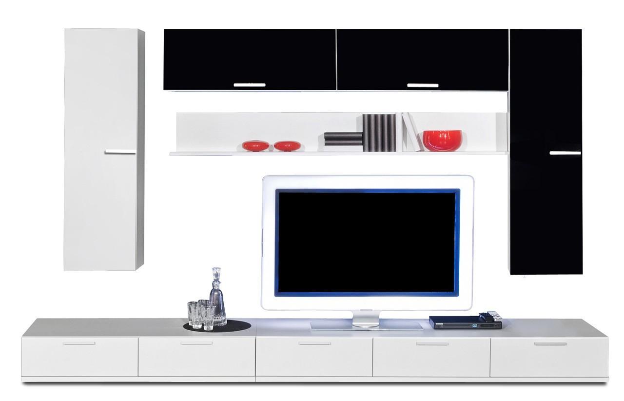 Obývací stěna Game - obývací stěna 347327 (bílá/černá)