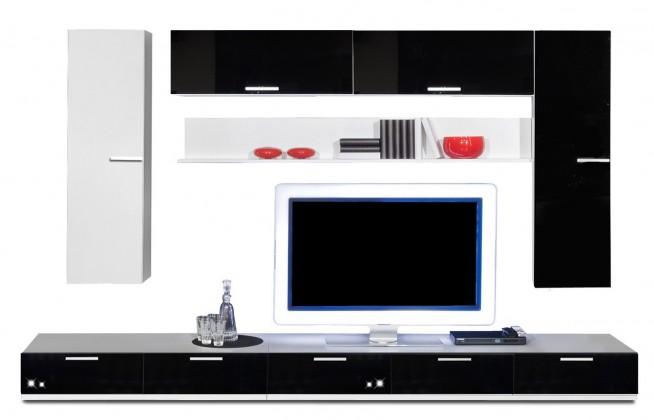 Obývací stěna Game - obývací stěna 3473279 (bílá/černá)