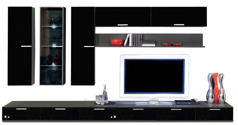 Obývací stěna Game - obývací stěna 3492059 (černá/černá)