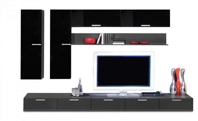 Obývací stěna Game - obývací stěna 349316 (černá/černá)