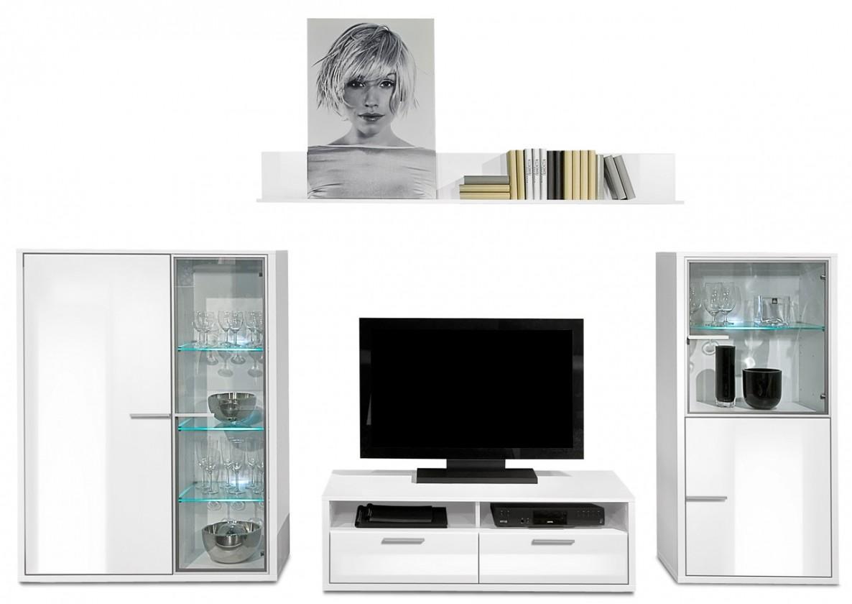 Obývací stěna Game plus - obývací stěna 3472257 (bílá/bílá lak HG)