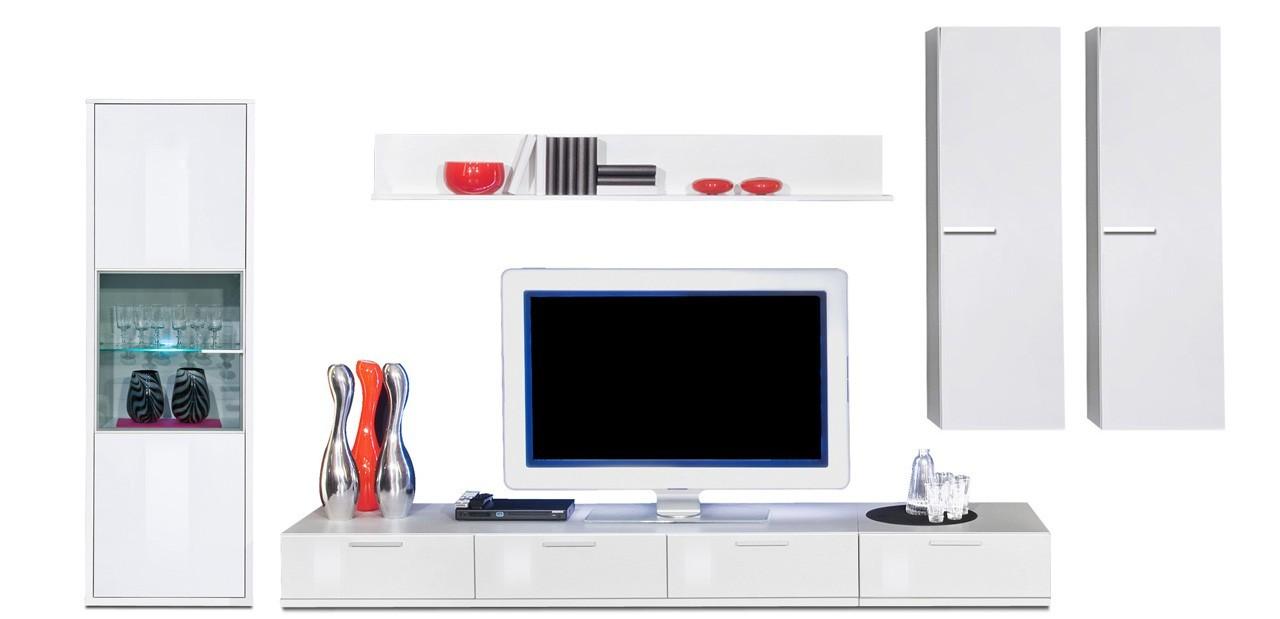 Obývací stěna Game plus - obývací stěna 3472557 (bílá/bílá lak HG)