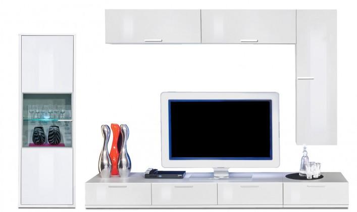 Obývací stěna Game plus - obývací stěna 3472657 (bílá/bílá lak HG)