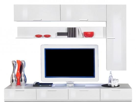 Obývací stěna Game plus - obývací stěna 3472757 (bílá/bílá lak HG)
