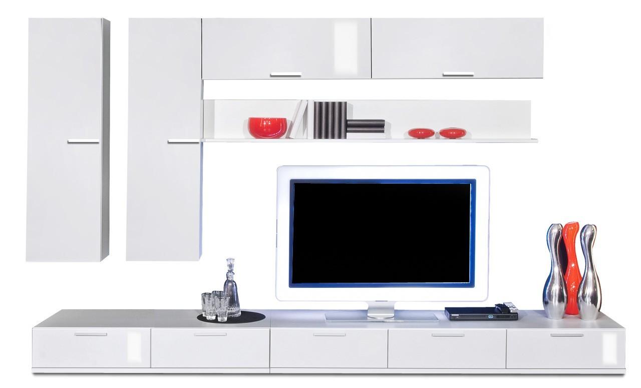 Obývací stěna Game plus - obývací stěna 3473167 (bílá/bílá lak HG)