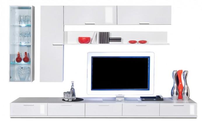 Obývací stěna Game plus - obývací stěna 3473267 (bílá/bílá lak HG)