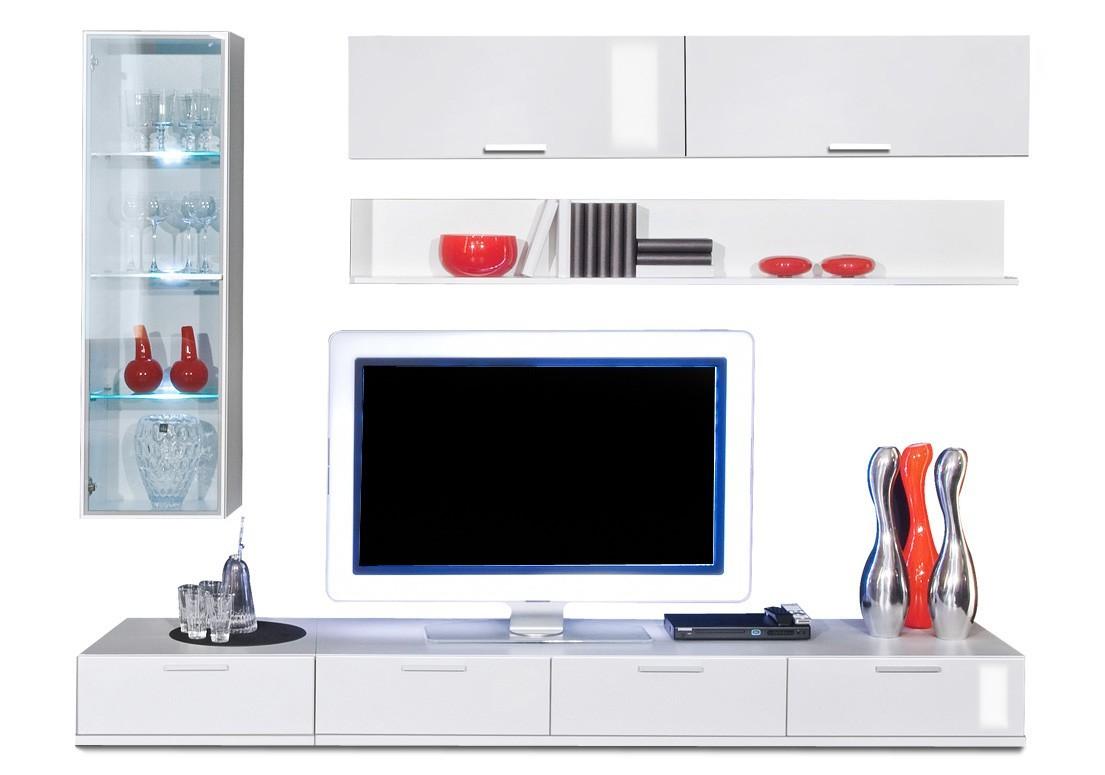 Obývací stěna Game plus - obývací stěna 3473517 (bílá/bílá lak HG)