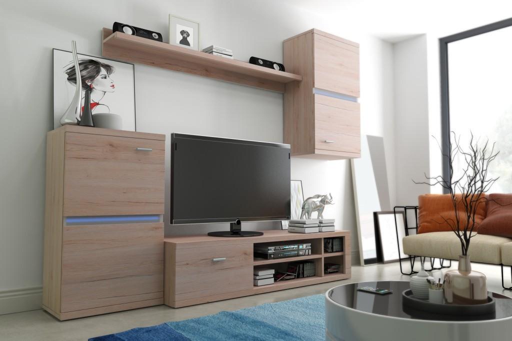 Obývací stěna Intel - Obývací stěna (dub sanremo)