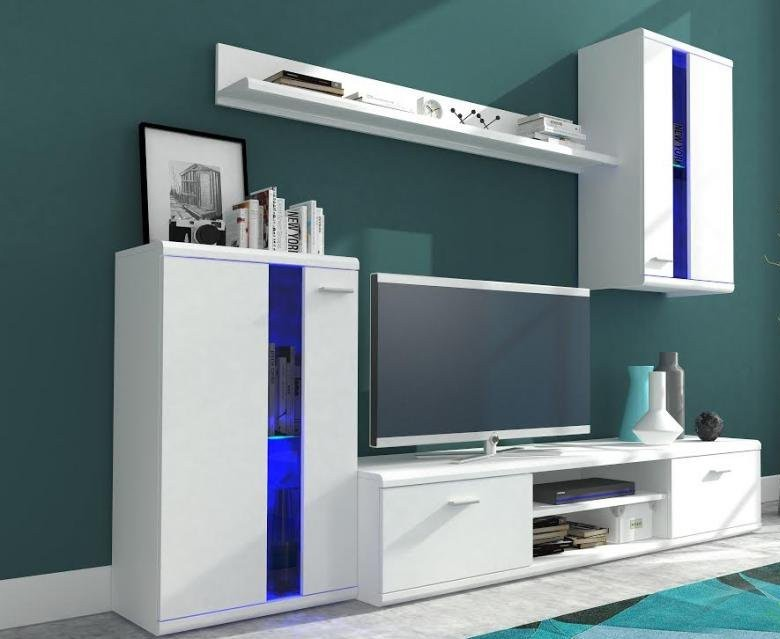 Obývací stěna Life - Obývací stěna (bílá/bílá lesk)