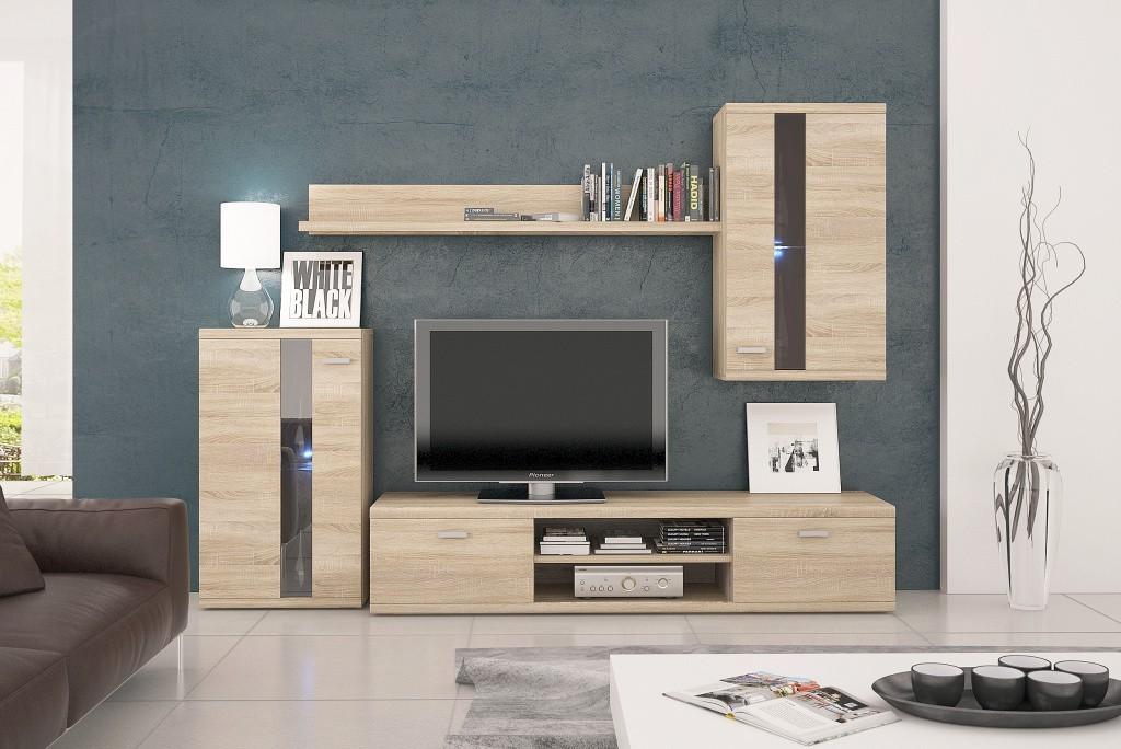 Obývací stěna Life - Obývací stěna (dub sonoma)