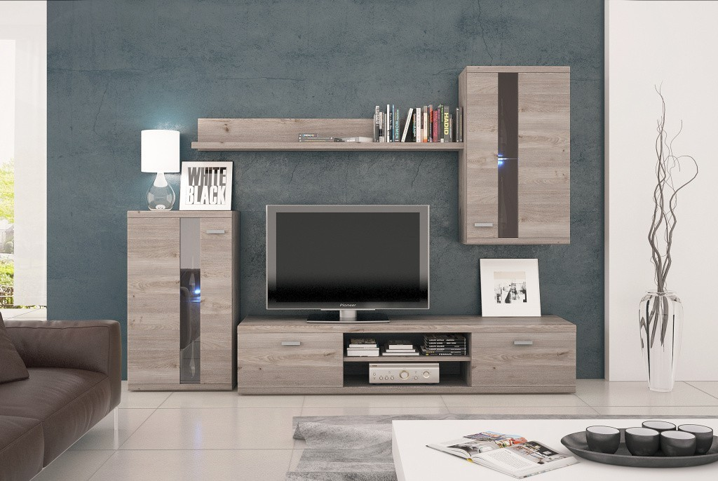 Obývací stěna Life - Obývací stěna (jilm nelson)