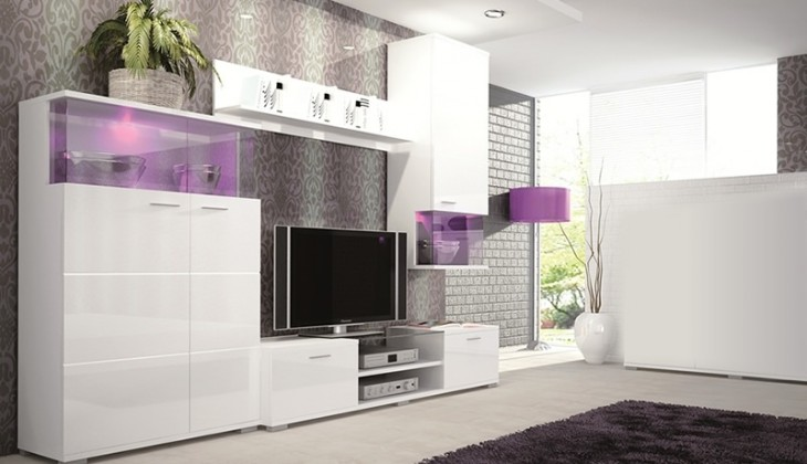 Obývací stěna Luis - Obývací stěna (bílá)