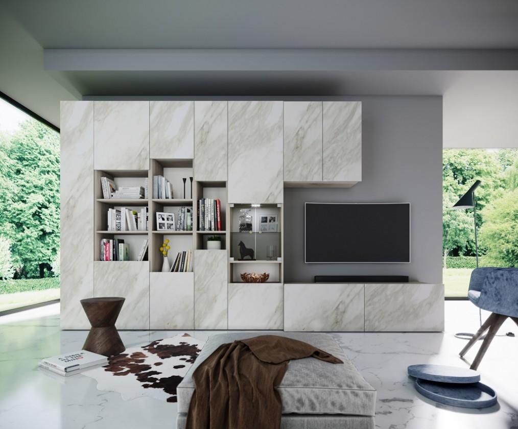 Obývací stěna Obývací stěna Arnave (sonoma arwen/bílý mat)